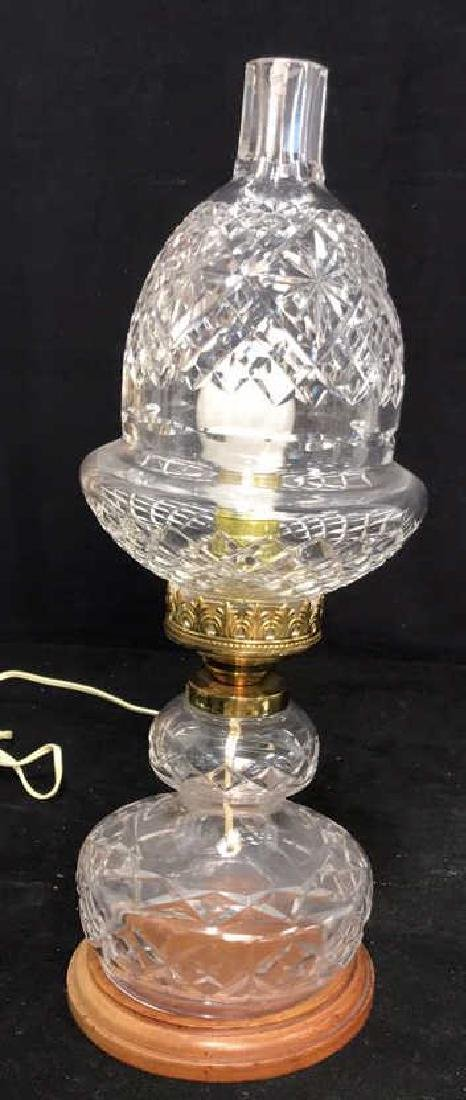 Cut Crystal Brass Double Gourd Form Lamp - 7