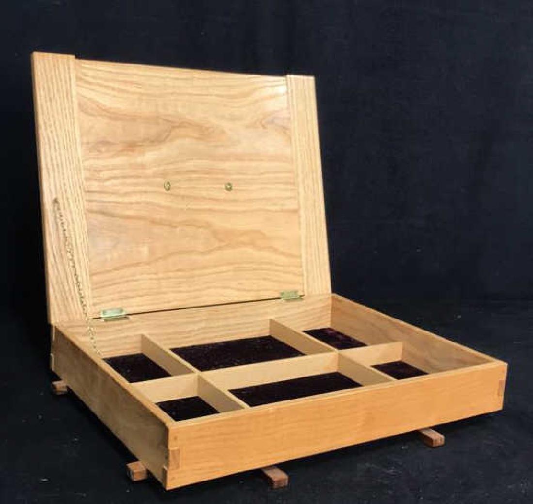 Japanese Style Wood Jewelry Dresser Box - 10