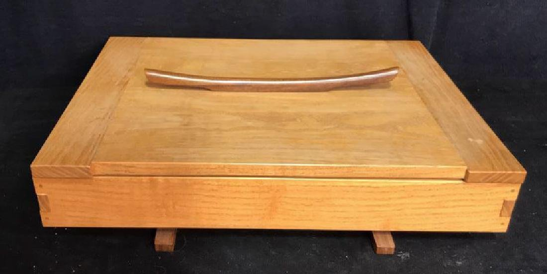 Japanese Style Wood Jewelry Dresser Box - 3