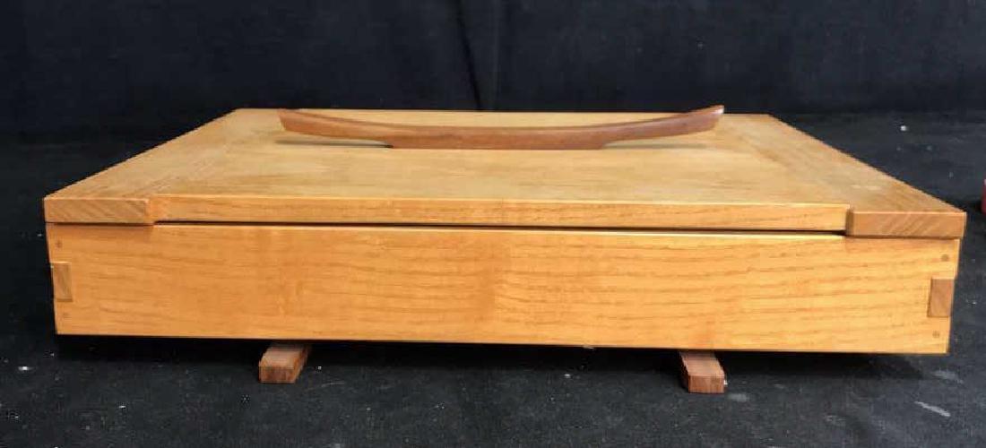 Japanese Style Wood Jewelry Dresser Box - 6