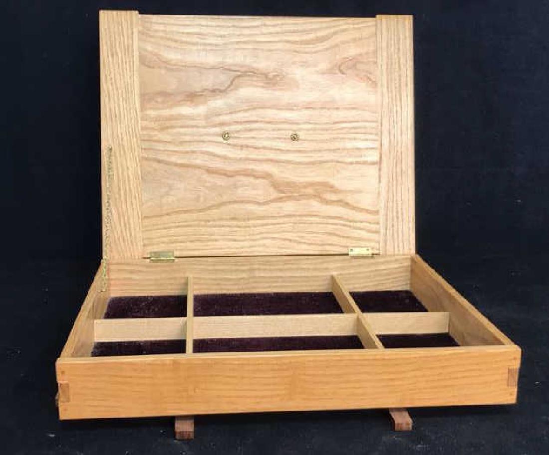 Japanese Style Wood Jewelry Dresser Box - 8