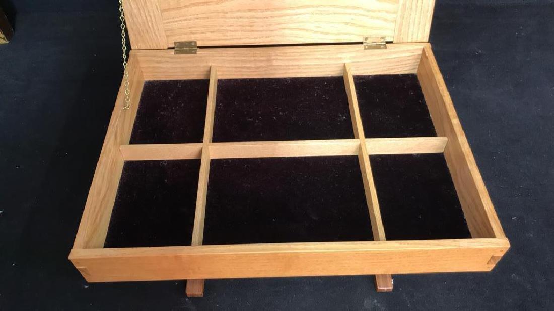 Japanese Style Wood Jewelry Dresser Box - 9