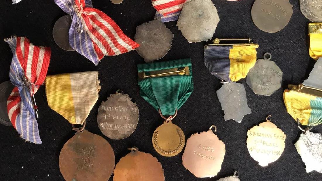 Group Lot 22 Vintage Collectible School Medals - 10