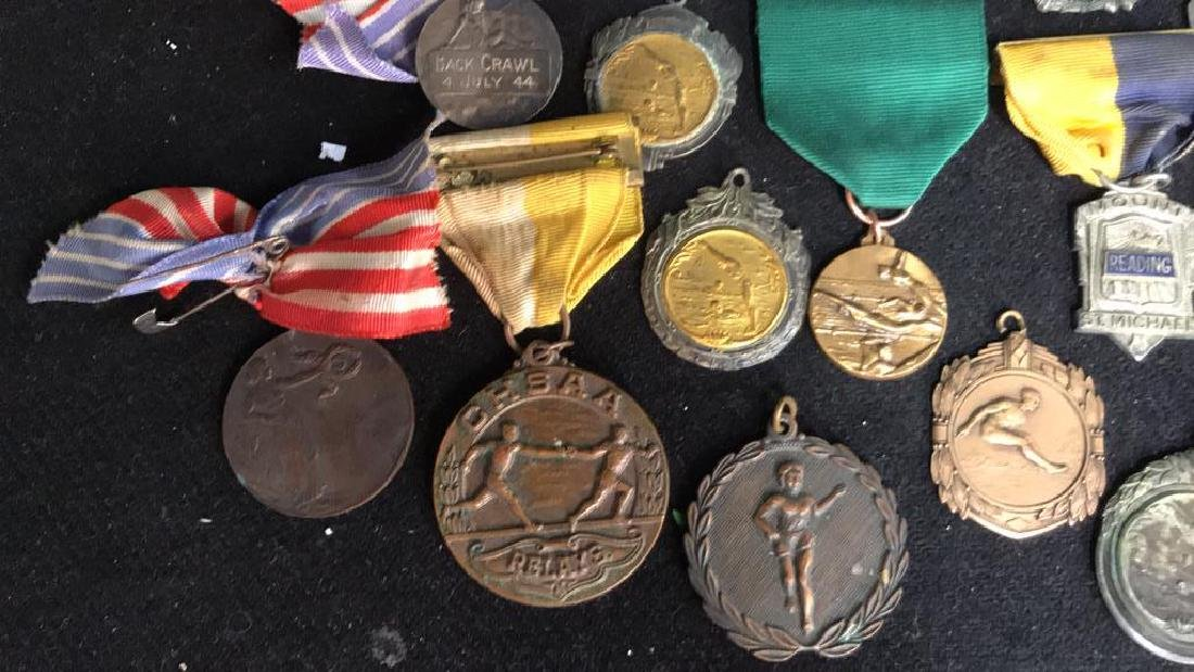 Group Lot 22 Vintage Collectible School Medals - 2
