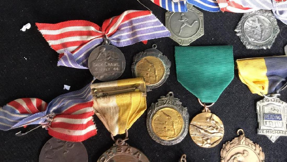 Group Lot 22 Vintage Collectible School Medals - 3