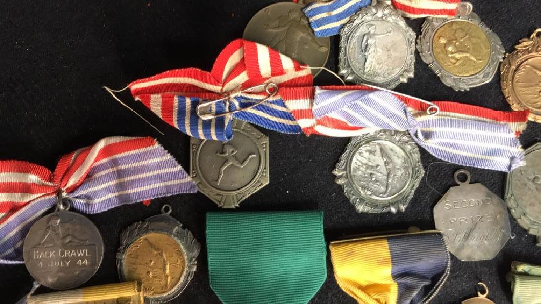 Group Lot 22 Vintage Collectible School Medals - 4