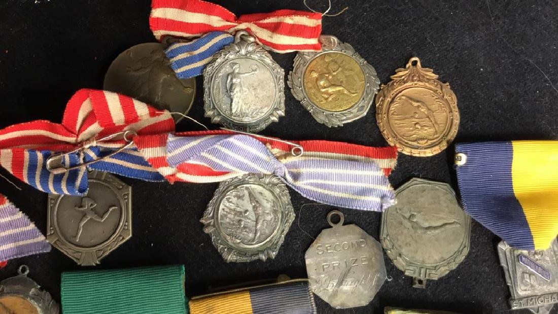 Group Lot 22 Vintage Collectible School Medals - 5