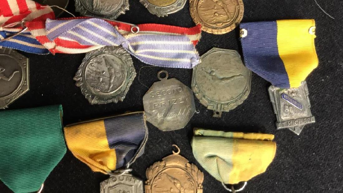 Group Lot 22 Vintage Collectible School Medals - 6