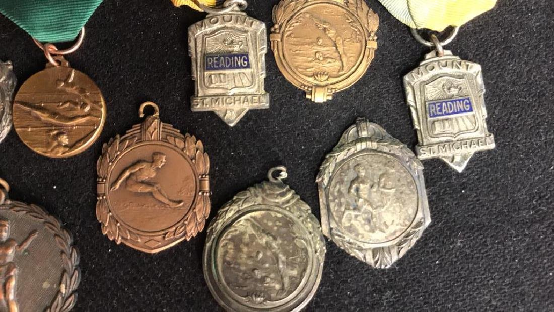 Group Lot 22 Vintage Collectible School Medals - 8