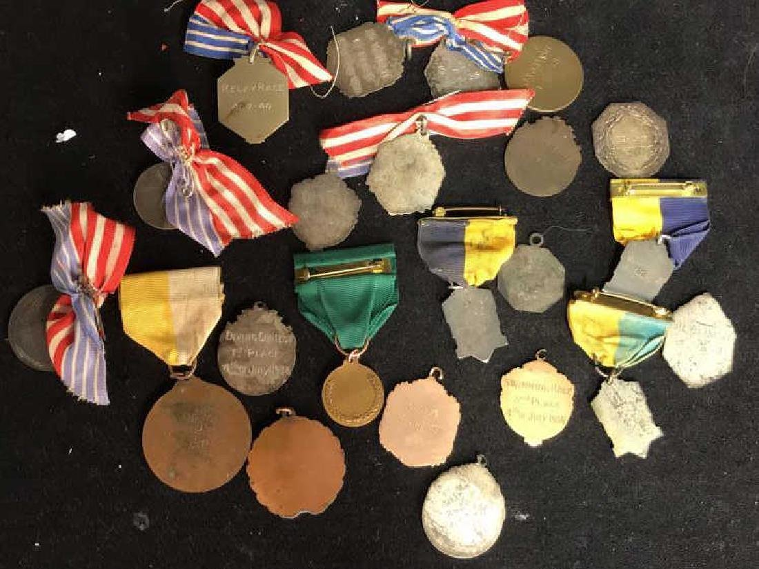 Group Lot 22 Vintage Collectible School Medals - 9