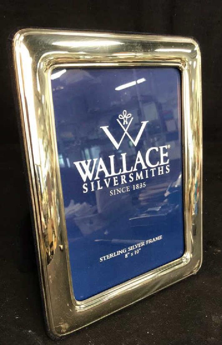 Wallace Sterling Silver Picture Frame w Box, Italy - 10