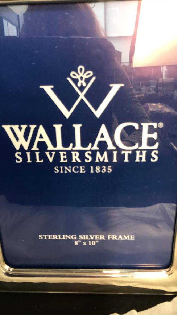 Wallace Sterling Silver Picture Frame w Box, Italy - 4