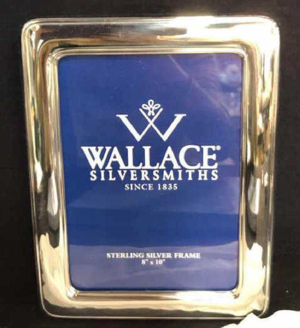Wallace Sterling Silver Picture Frame w Box, Italy - 7