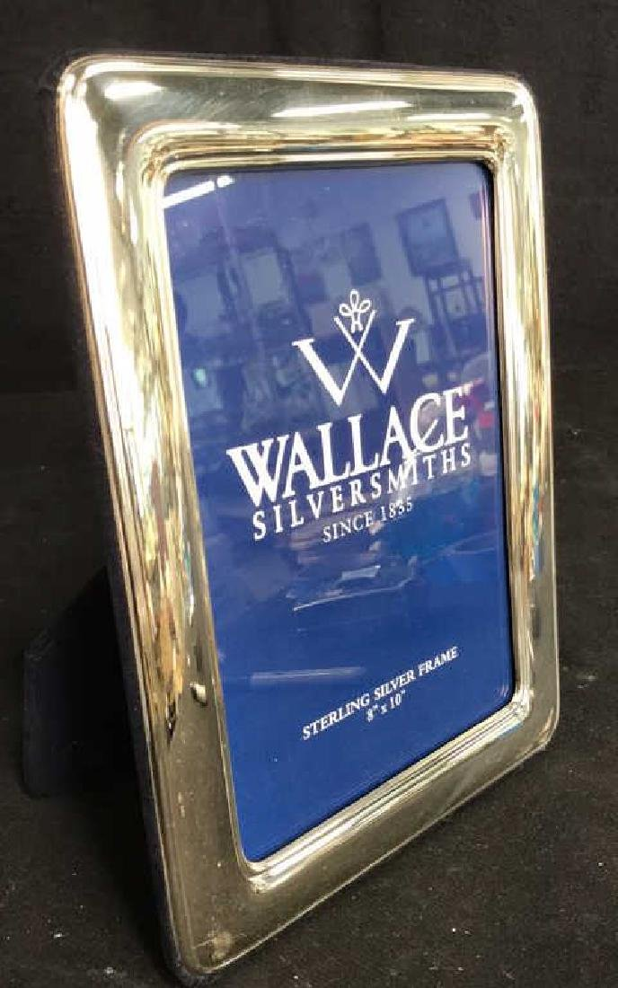 Wallace Sterling Silver Picture Frame w Box, Italy - 9