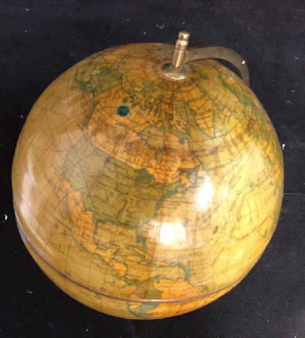 Polished Mahogany and Brass Metal Globe - 6