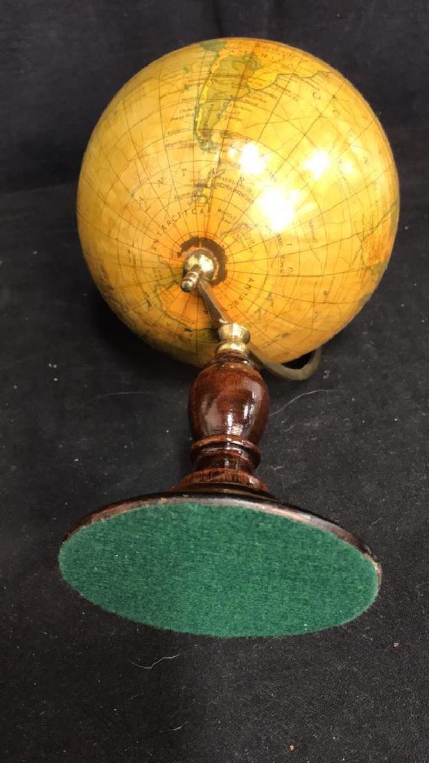 Polished Mahogany and Brass Metal Globe - 9