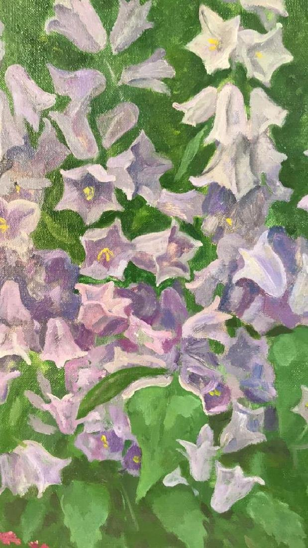 A.N. Levin Forest Flowers Painting Canvas 1993 - 5