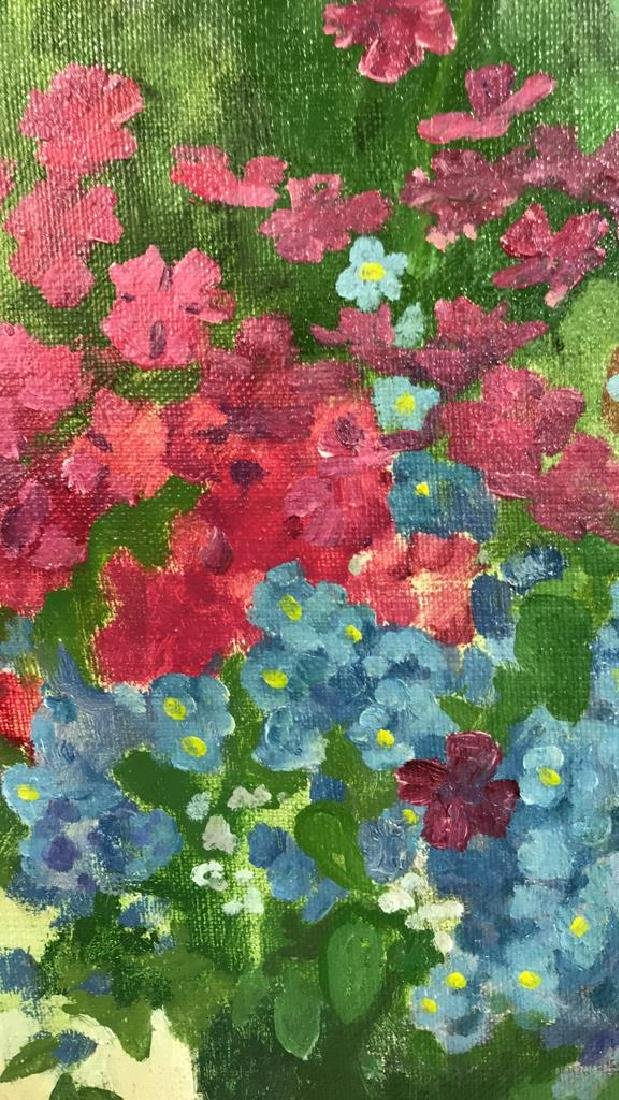 A.N. Levin Forest Flowers Painting Canvas 1993 - 6