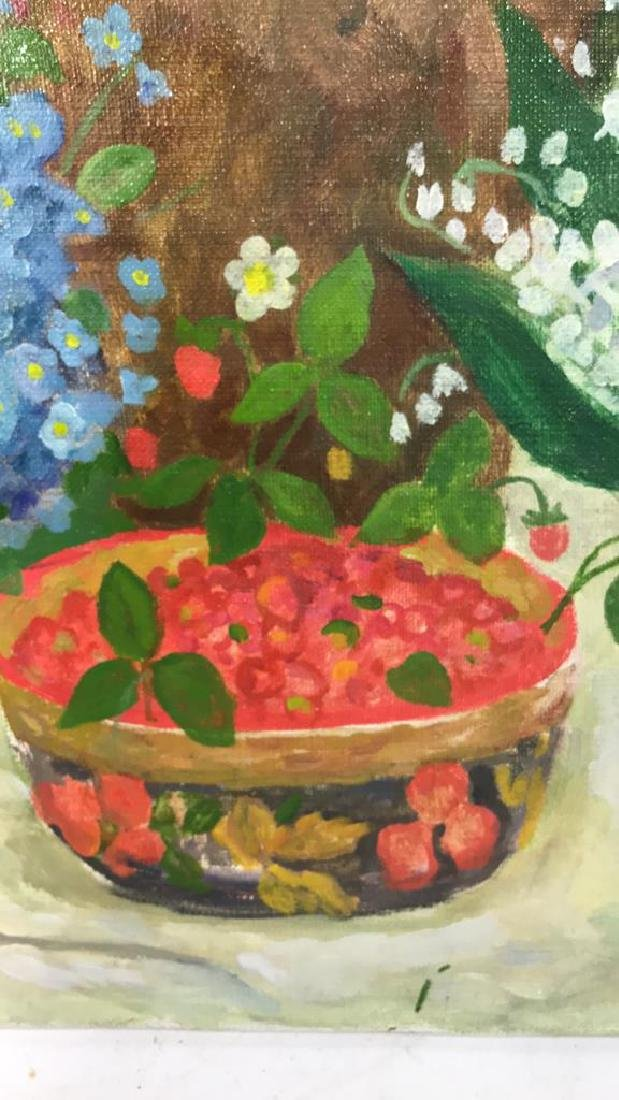 A.N. Levin Forest Flowers Painting Canvas 1993 - 7