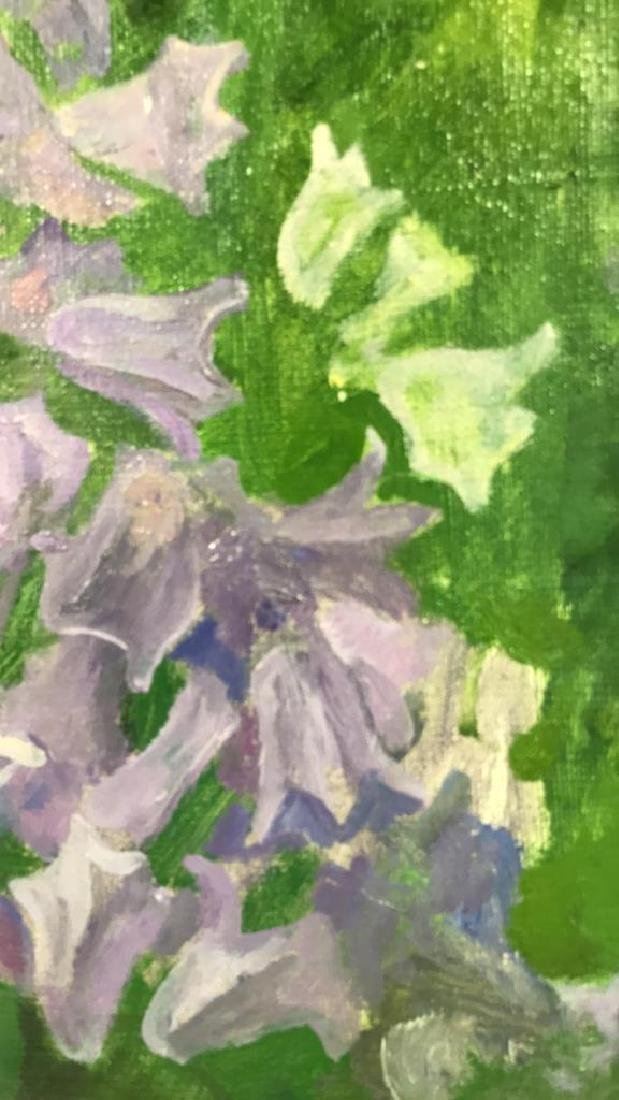 A.N. Levin Forest Flowers Painting Canvas 1993 - 9