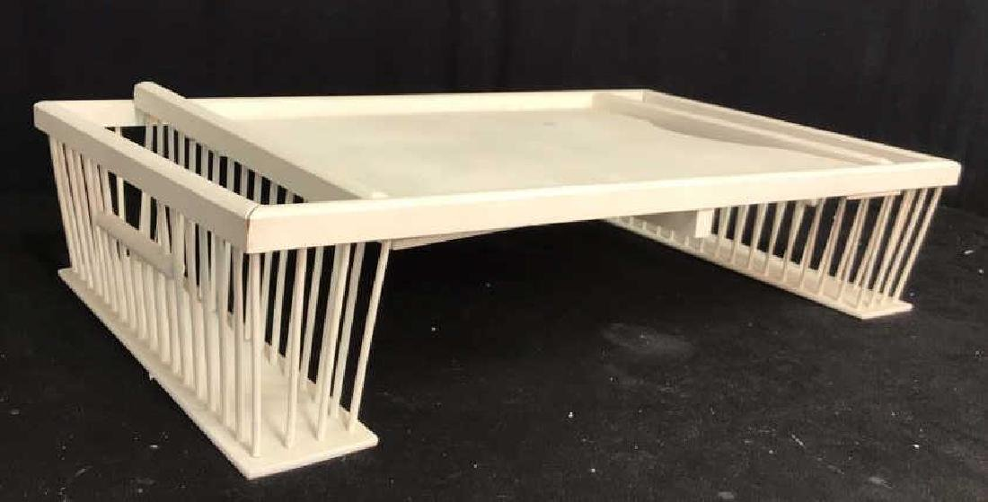 Vintage white painted Wood Bed Tray