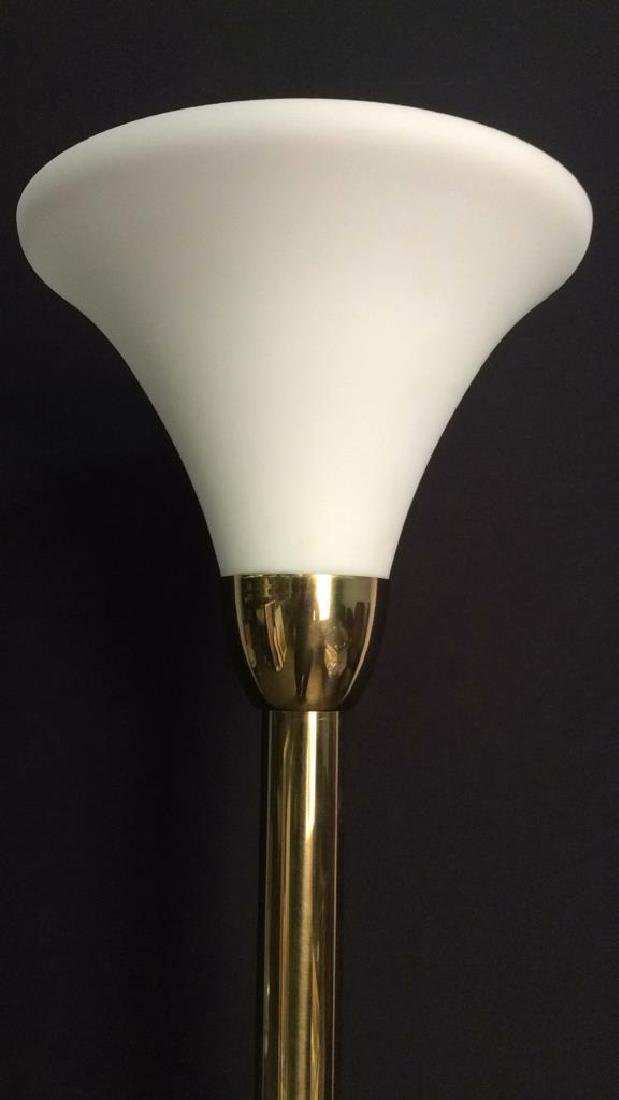 Gold Toned Floor Lamp - 2