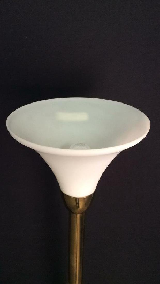 Gold Toned Floor Lamp - 4