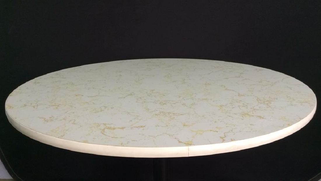 Round Top Wood & Metal Pedestal Table - 2