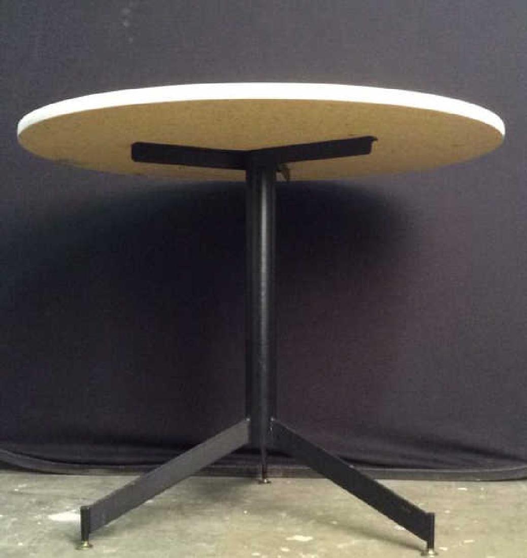 Round Top Wood & Metal Pedestal Table - 5