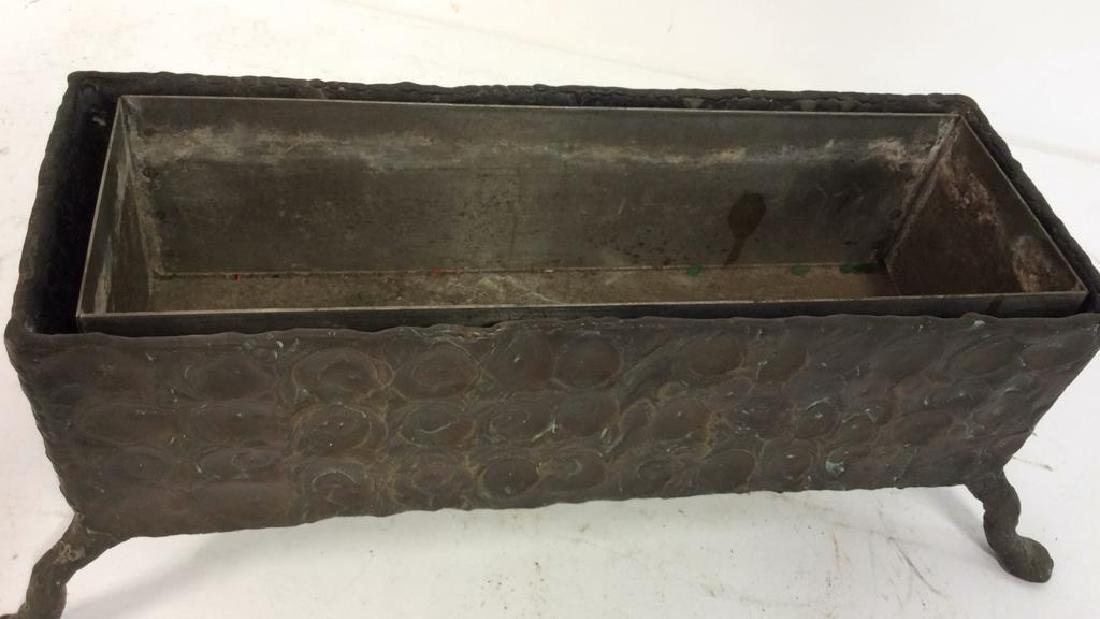 Hammered Bronze Planter Window Box - 4