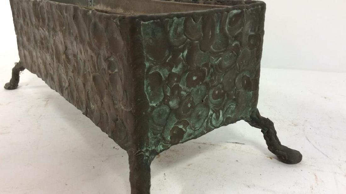 Hammered Bronze Planter Window Box - 9