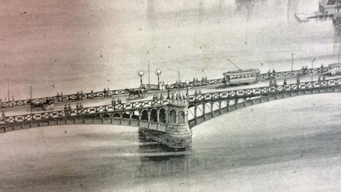 Antique Print Illustration Lake Quinsigamond - 9