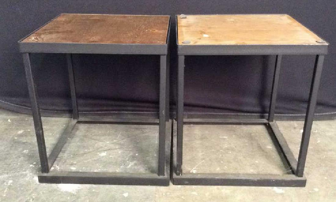 Lot 2 Wooden & Metal Nesting Tables