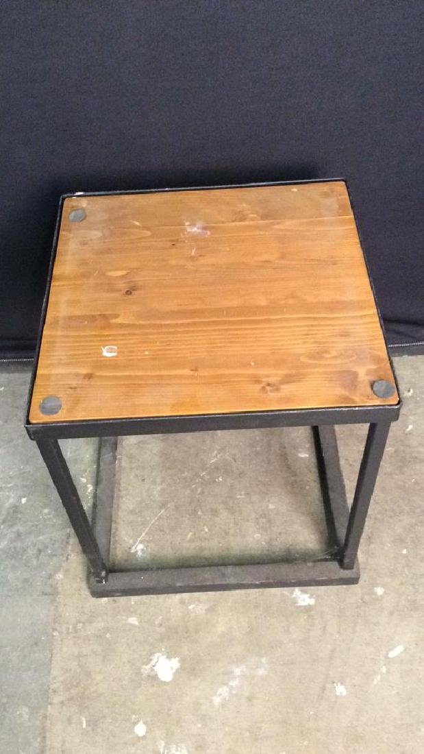 Lot 2 Wooden & Metal Nesting Tables - 3