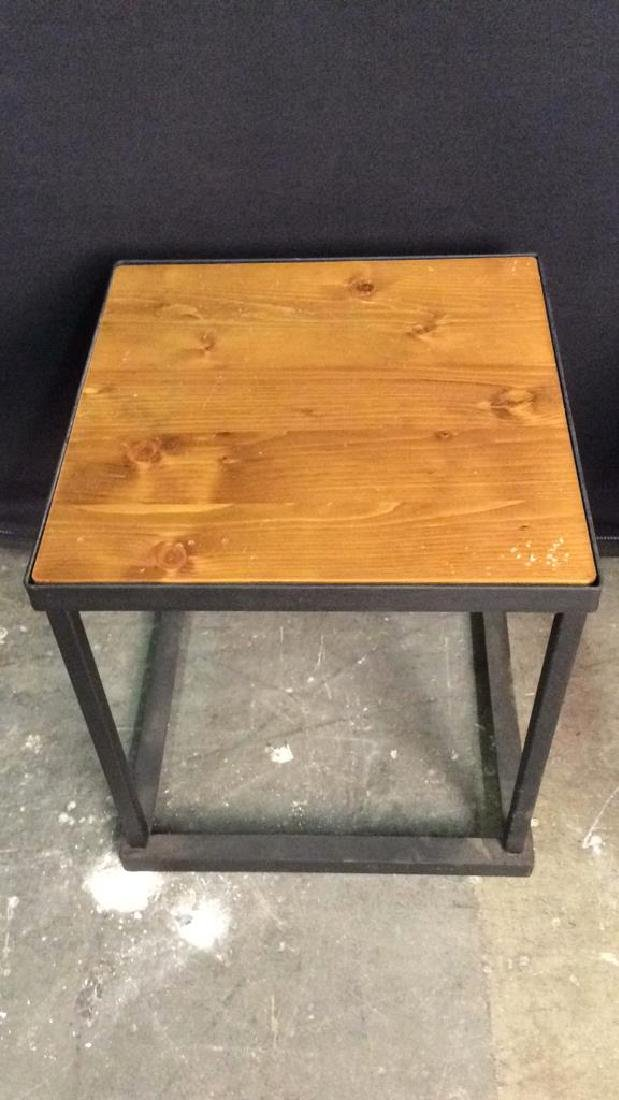 Lot 2 Wooden & Metal Nesting Tables - 4