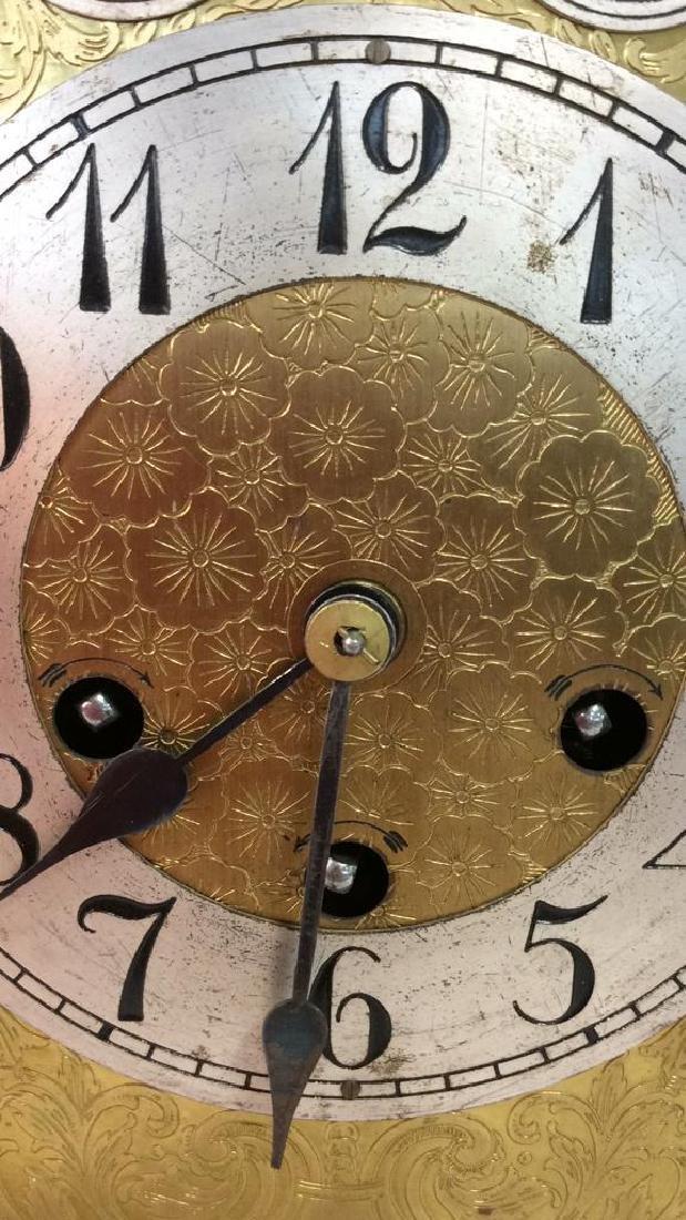 Vintage Wood Inlaid Mantle Clock - 6