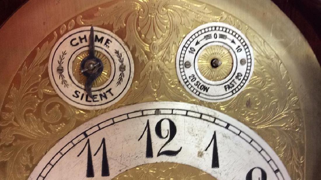 Vintage Wood Inlaid Mantle Clock - 7