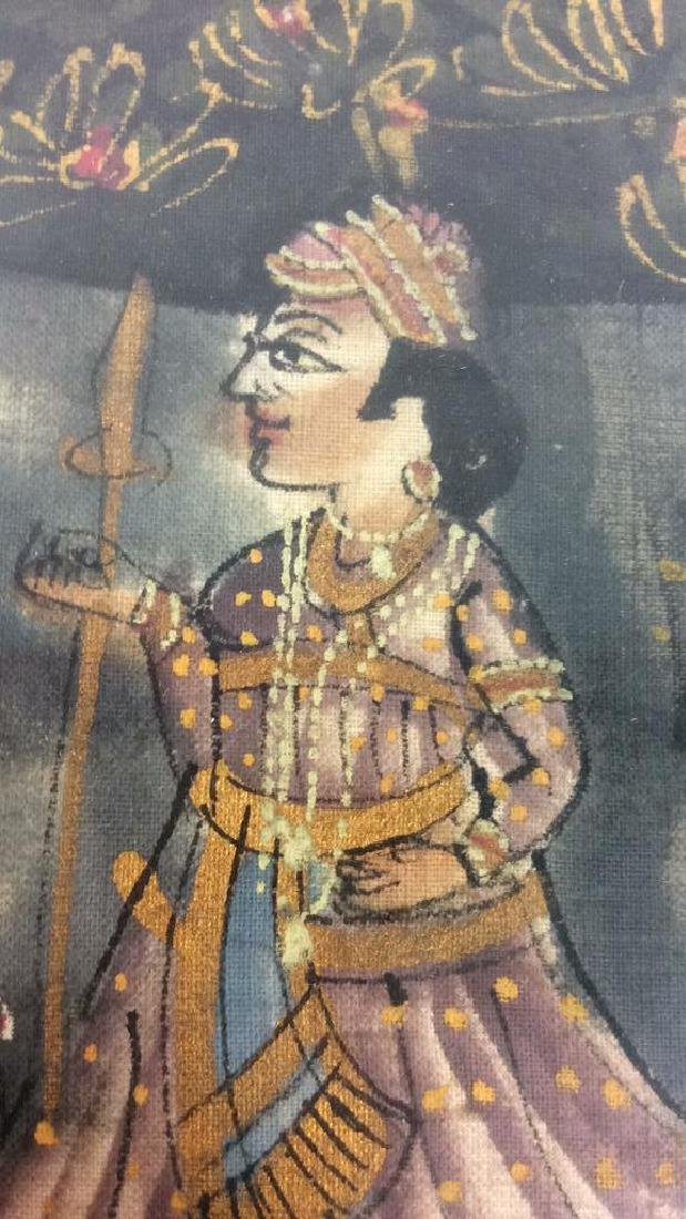 Mughal Painting on Fabric Framed - 10