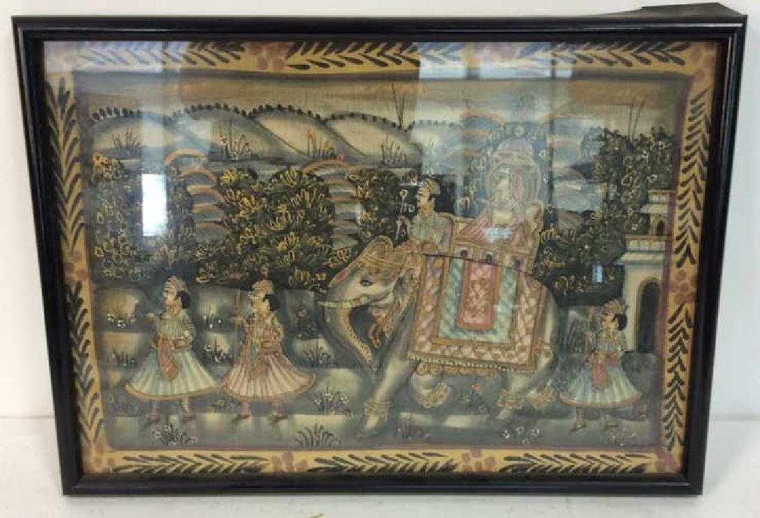 Mughal Painting on Fabric Framed - 2