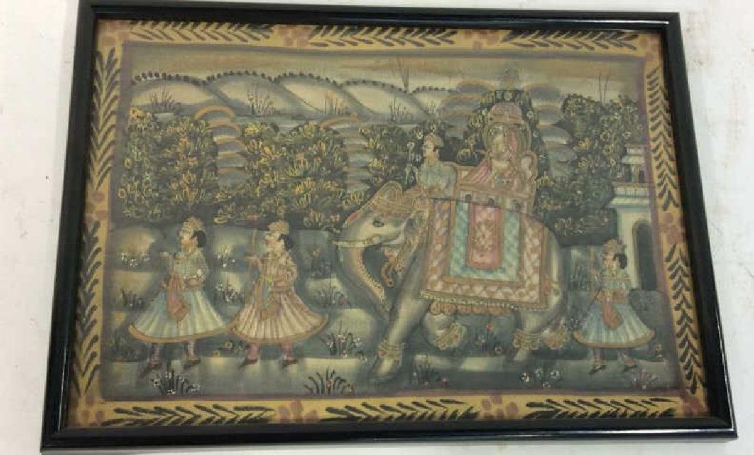 Mughal Painting on Fabric Framed - 4