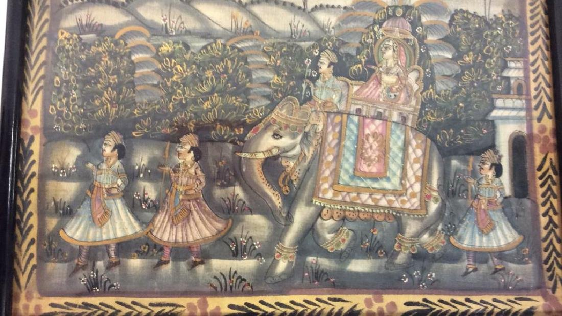 Mughal Painting on Fabric Framed - 5