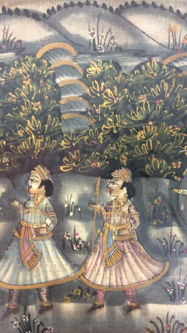 Mughal Painting on Fabric Framed - 6