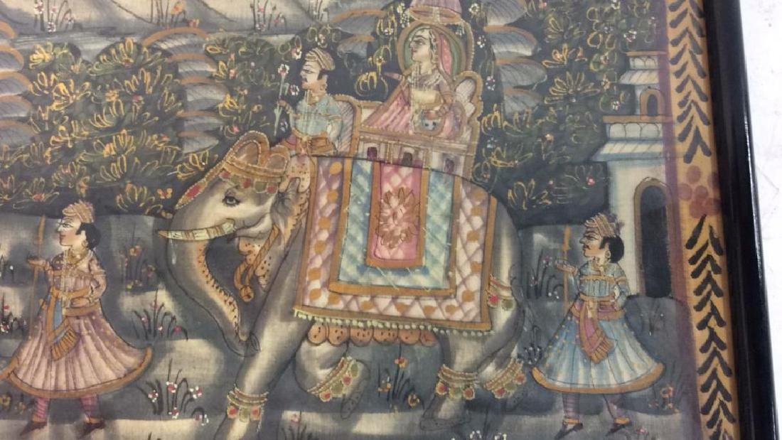 Mughal Painting on Fabric Framed - 7