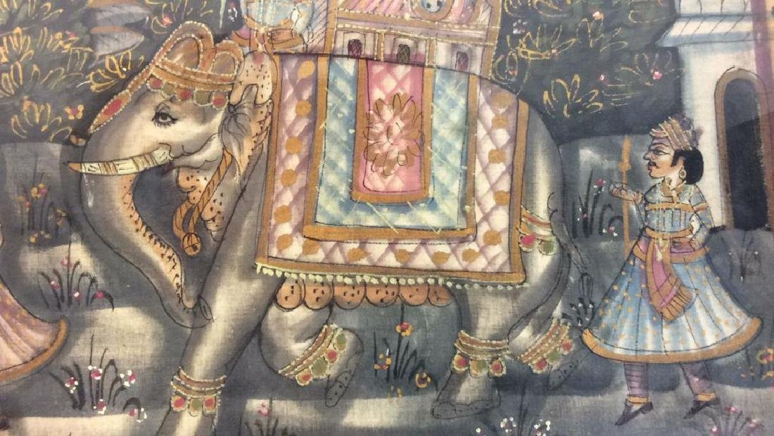 Mughal Painting on Fabric Framed - 8
