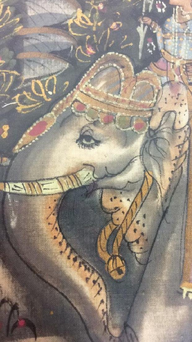 Mughal Painting on Fabric Framed - 9