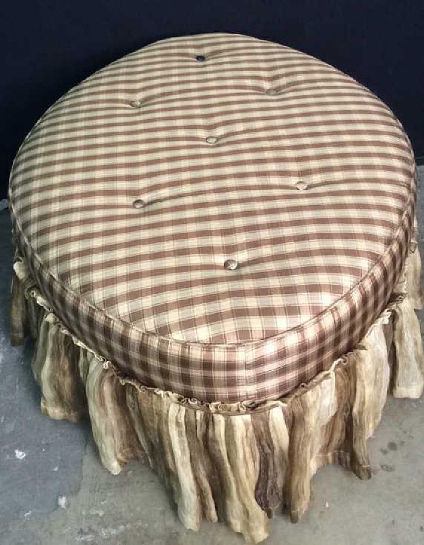 CARR & COMPANY Tufted Oval Shaped Ottoman - 4
