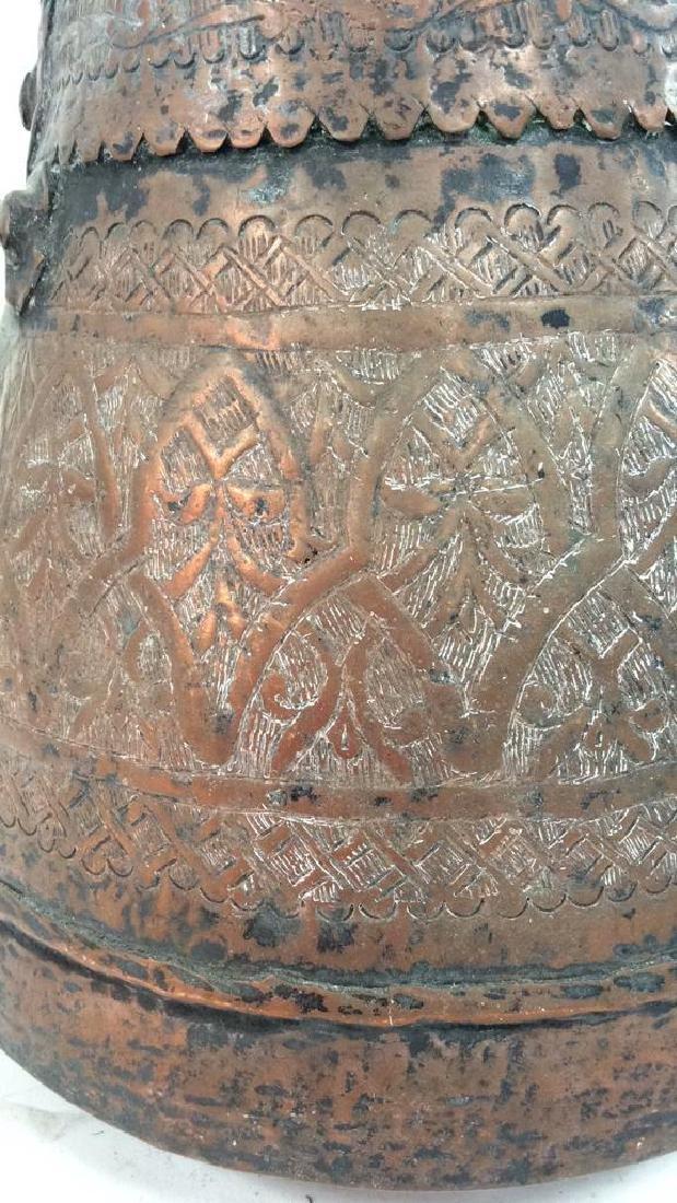 Islamic Copper Bucket w Jug Handles - 5