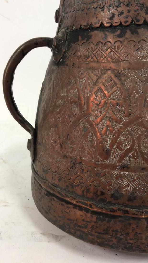 Islamic Copper Bucket w Jug Handles - 6