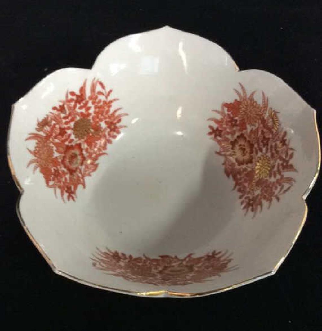 Asian Russet Gold White Porcelain Bowl - 2