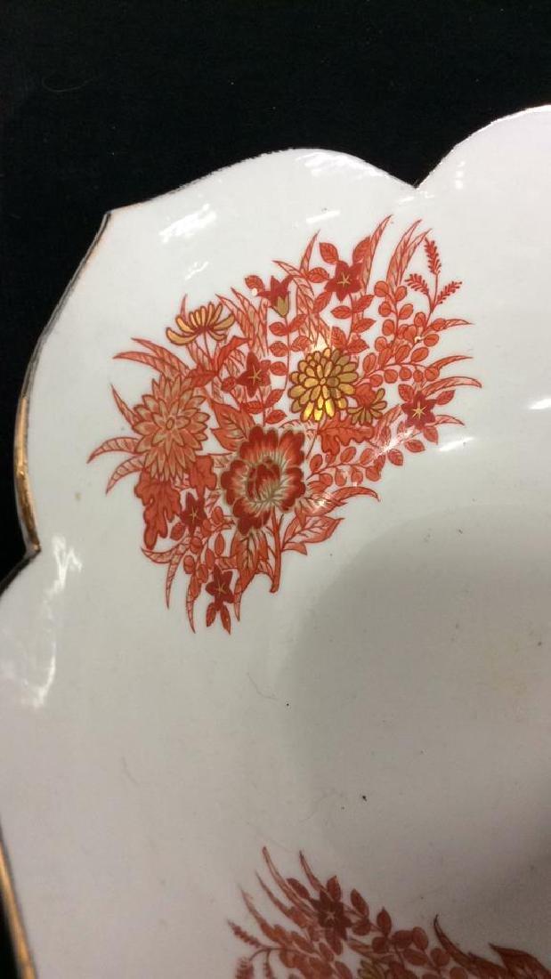 Asian Russet Gold White Porcelain Bowl - 3